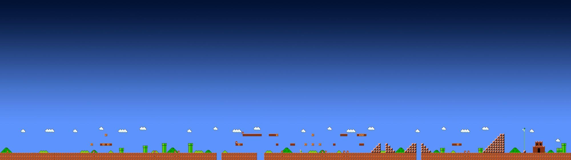 Dual-Monitor-Super-Mario-Bros